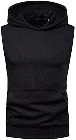 メンズ シャツ Rexzo ノースリーブ フード付き スポーツシャツ 春夏季対応 着心地良い タンクトップ 上質 コットンTシャツ 吸汗速乾 ファッション トレーニングウェア 通気性いい 活動性が良い スウェットシャツ 運動 日常
