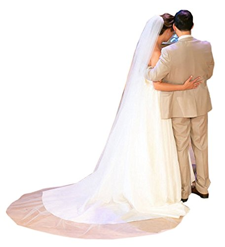 Belle House Tulle Sheer Wedding Bridal Veils Cathedral for Bride White