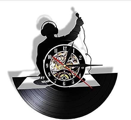 wffmx Tocadiscos DJ Custom Wall Art Reloj De Pared DJ Your ...