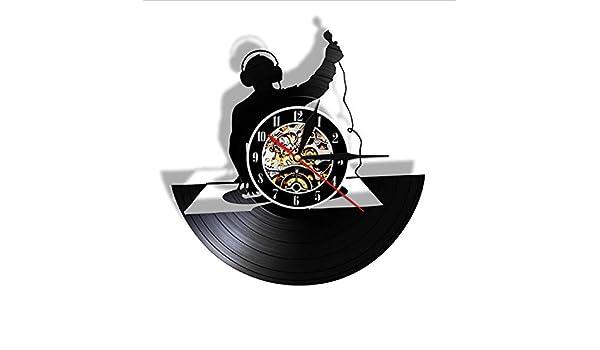 wffmx Tocadiscos DJ Custom Wall Art Reloj De Pared DJ Your Name ...