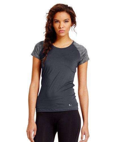 Under Armour Women's HeatGear® Sonic Raglan Printed Short Sleeve Medium Lead