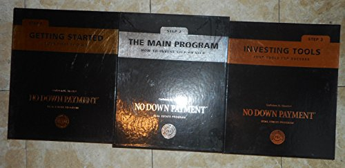 Carleton H. Sheets' Set of No Down Payment Step-by-step Manual 1 2 3 Kit, plus, No Down Payment Course Audio Program of 12 CDs - Carleton Sheets