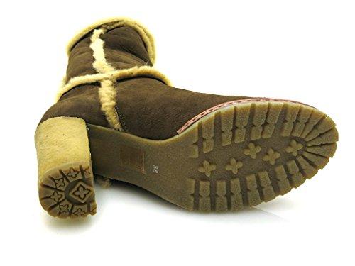 Giudecca - Botas de cuero para mujer marrón - marrón