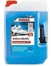 Sonax AntiFrost&KlarSicht gebruiksklaar tot -20 °C (5 liter) is een snelle, streepvrije en effectieve ruitenreiniger voor de winter, art.nr. 03325000
