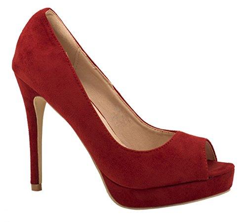 Elara - Zapatos con tacón Mujer Rojo