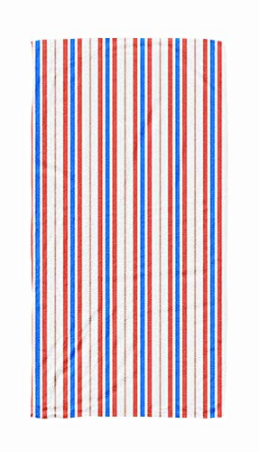 ROOLAYS Kids Beach Towels, 30x60 Microfiber Beach Towel Quick Dry for TravelSwimming Baby Bath Towel of Abstract Geometric Pattern Vertical Stripes Monochrome Background Wrapping Paper Print ()