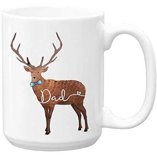 Dad Deer Mug, Gift for Dad, Birthday, Large 15 oz