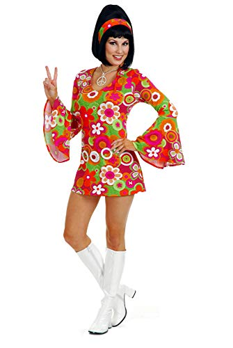 Flower Power Halloween Costume (Charades Women's Flower Babe Dress, as as Shown,)