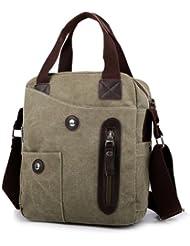 Tonwhar Mens Canvas Shoulder Bag Ipad Air Bag with Handles