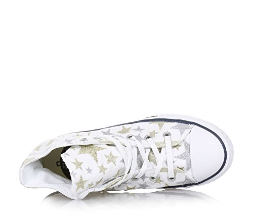 Converse Chuck Taylor All Star Glitter Top Sneakers Bianco Bianco / Argento / Oro