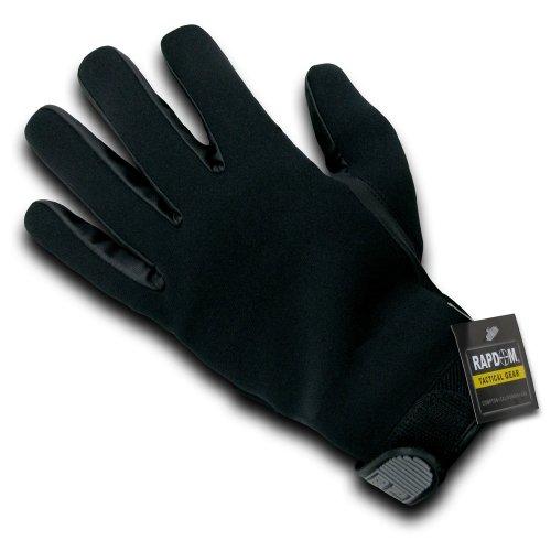 Rapdom Tactical Kevlar Patrol Gloves, Black, X-Large