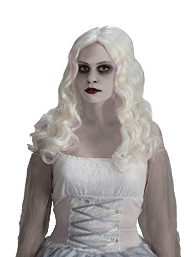 Forum Novelties Women's Spirited Ghost Costume Wig, White,