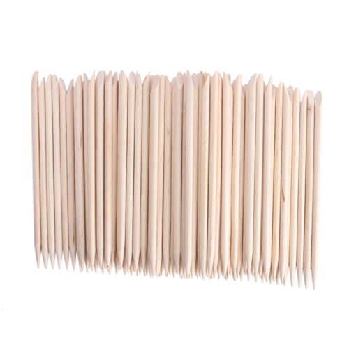 Adecco LLC 50PCS/150PCS/500PCS/1000PCS Nail Art Orange Wood Sticks Cuticle Pusher Remover Manicure Pedicure Tool 110mm (50P) ()