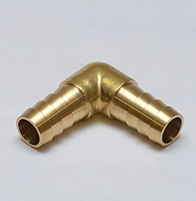 """1/2"""" Hose ID / Hose Barb 90 Degree L Right Angle Elbow Barbed Brass Fitting Fuel / Air / Water / Boat / Gas / Oil WOG"""