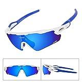 Batfox Polarized Sports Sunglasses Glasses for Running Cycling Baseball...