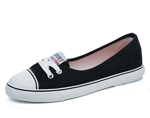 Set Profonda Quattro Scarpe Tempo Libero Nvxie Black Confortevoli Bocca Studenti Di Shoes Tela Confortevole Movimento Colori Poco Lady Piede BIqCX