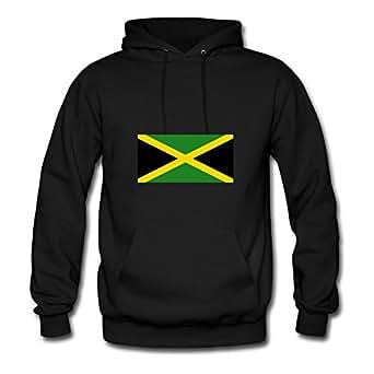 Cool Jamaica Flag Sweatshirts Cool Designed Black Cotton X-large Women Personalized