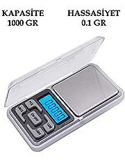 Dijital Hassas Elektronik Taşınabilir Cep Terazi Tartı 1000 gr 0.1 gr