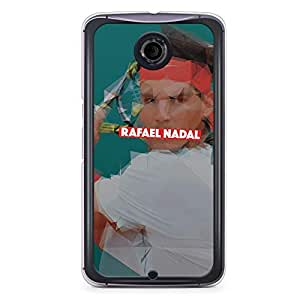 Rafael Nadal Nexus 6 Transparent Edge Case - Heroes Collection