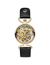Zeppelin Ladies Watch Princess Automatic Skeleton Watch Yellow Gold 7459-5