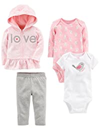 Simple Joys by Carter's Baby Girls 4-Piece Little Jacket Set