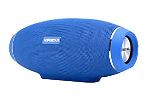ADIGE Portable Wireless Bluetooth Speaker (BLUE), 31W HD Stereo Audio Woofer, BIG BASS, IPX5, Portable, Indoor/Outdoor, Power Bank, TF Micro SD Card Slot, 3.5mm AUX Input