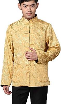 InterestPrint Abstract Aperture Stand Collar Shirt for Men