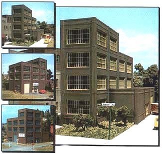 Scale Ho Building Dpm - HO KIT DPM Steel Sash Industrial Building