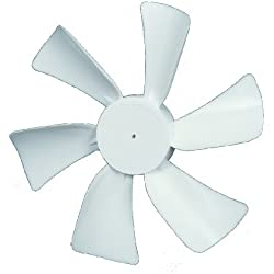 "Ventmate 65491 White 6"" Replacement Ventline Fan Blade with 0.094"" Round Bore"
