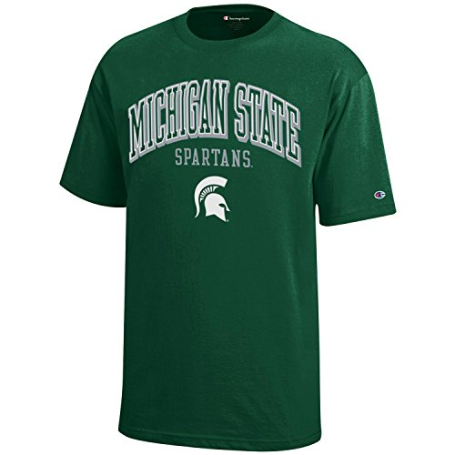 NCAA Michigan State Spartans Youth Boys Champion Short sleeve Jersey T-Shirt, Small, Dark Green