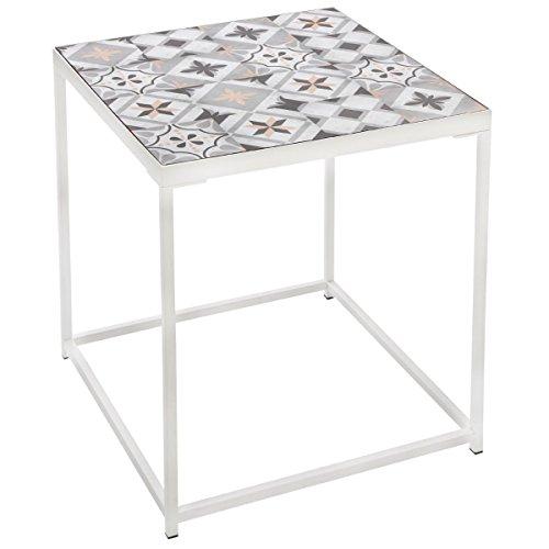 table basse gu ridon avec plateau aspect carreaux de. Black Bedroom Furniture Sets. Home Design Ideas