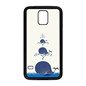 DIY Phone Case for SamSung Galaxy S5 I9600, Dolphins Cover Case - HL-R679804