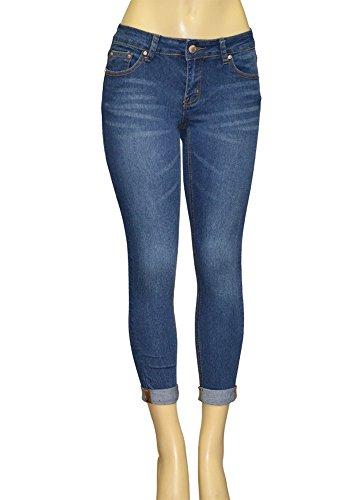 Alfa Global Junior's Stretch Ankle Skinny Denim Pants Denim1981 Size 0