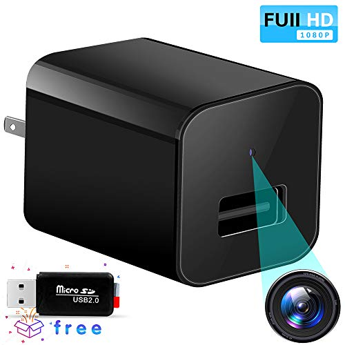 Hidden Spy Camera Charger-HD 1080P-Wireless Hidden Cameras-Video Recording -Wall Charger Spy Camera-Mini USB Spy Cam-Surveillance Nanny Cam-Motion Detection-Support Max 32GB SD Card ()