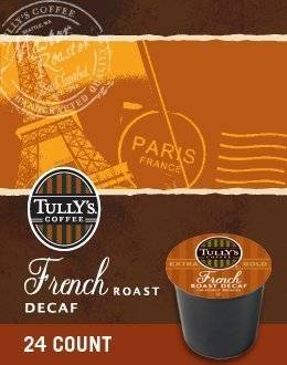 TULLY'S FRENCH ROAST DECAF COFFEE K CUP 120 COUNT by Tull...