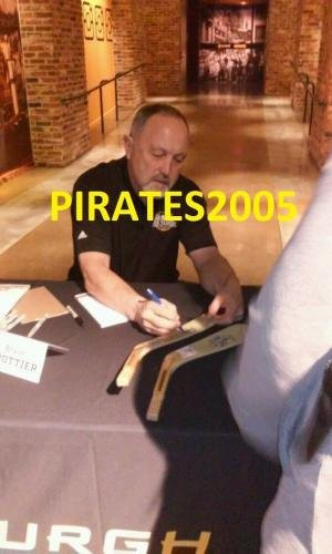 Bryan Trottier Signed Hockey Stick New York Islanders Hof Exact Proof Autographed NHL Sticks