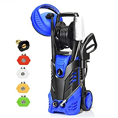 Goplus 3000PSI Electric High Pressure Washer, 2 GPM 2000W Portable Power Washer w/Deck Patio Cleaner & Nozzles