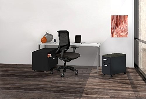 Mayline Reconfigurable Office W/Lateral File Desk: 60''W X 24''D X 29.5''H Lateral File Storage Cabinet: 30''W X 18''D X 21.75''H Mobile Pedestal W/Seat Cushion: 15.5''W X 24''D X 25''H - Expo Sprout