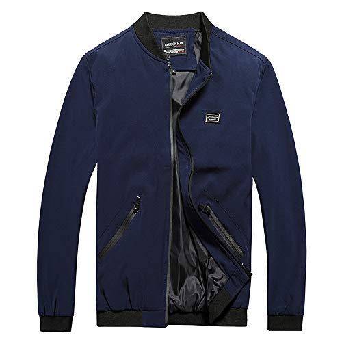 Print Interlock Turtleneck Cotton (Big Men's Casual Warm Jacket Full Zip Up Outwear Big Size Baseball Coat)