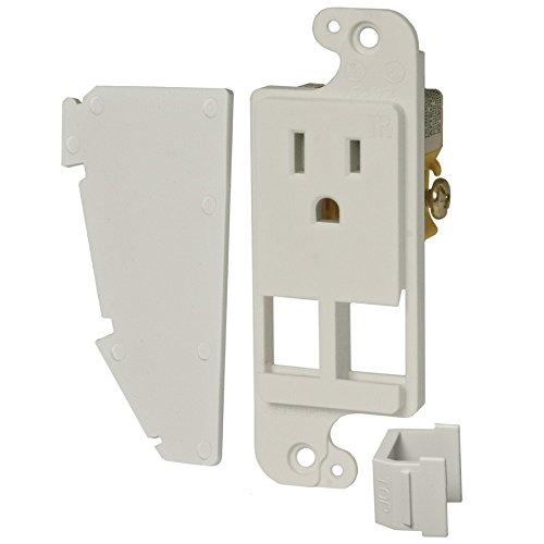 Hubbell 15-Amp 125-volt White Indoor Decorator Undercabinet Tamper Resistant - Outlets Tx Premium