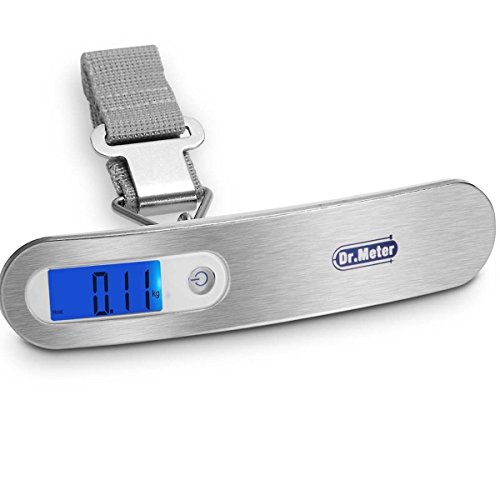 Dr.meter PS03 Backlit Digital Hanging Luggage Scale with Tar