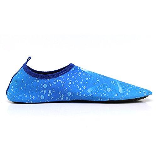 Lapens Zapatos Descalzos Para Hombres De Agua De Secado Rápido Para Hombres Zapatos Deportivos Aqua De Estilo Deportivo Con Cordones Slip-on Sneakers Blue