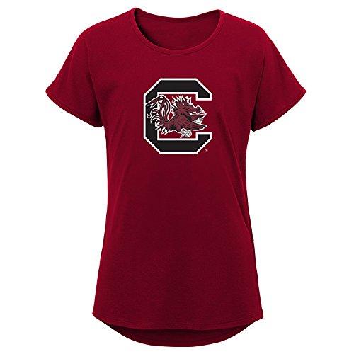 (NCAA South Carolina Fighting Gamecocks Youth Girls Primary Logo Dolman Tee, Youth Girls Medium(10-12), Garnet)
