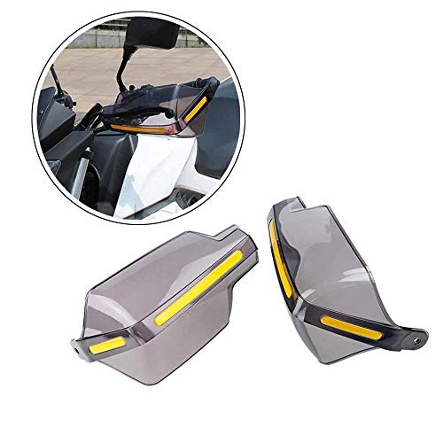 Sala-Ctr - ZHUANGQIAO Motorcycle Wind Deflectors Translucent Handle Bar Protection Grips Guard