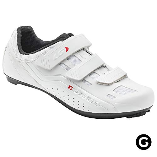 Louis Garneau Unisex Chrome Bike Shoes for Commuting and Indoor Cycling, Compatible with SPD, Look and All Road Pedals, White, US (9.5), EU (43)