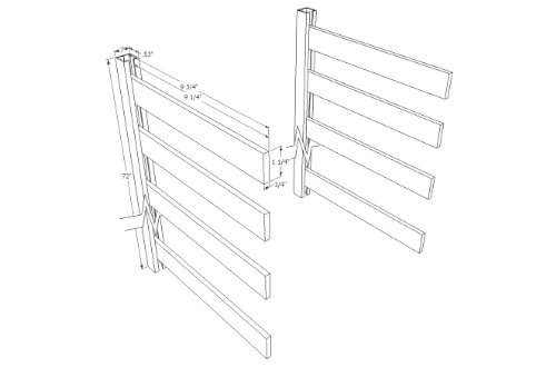 ISS Designs Shelving Hardware System for 4 Rows of 10-Inch Deep Shelves, 72-Inch Vertical Simple Standards by ISS Designs (Image #7)