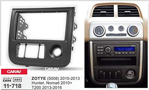 Double Din In Dash Car Stereo Installation Kit Car Radio Stereo CD Player Dash Install Kit Compatible ZOTYE (5008) 2010-2013; Hunter, Nomad 2010+; T200 2013-2016 with 17398mm/173100mm/178102mm
