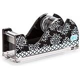 Roomlookz Acrylic Tape Dispenser - Black and White Burst