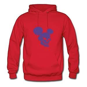 Rosachav Women Mickey Designed Hoody (x-large,red)