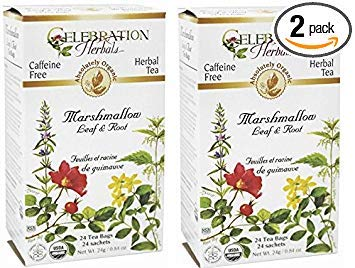 Marshmallow Leaf and Root Tea - 2 Pack (48 Bags -